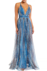 Queen Renee Dress (Blue/Multi)