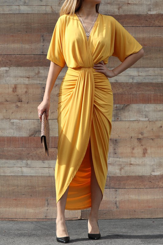 Only Here Tonight Dress (Mustard)