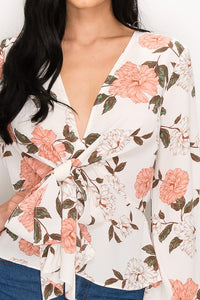 Always In Floral Top (Ivory)