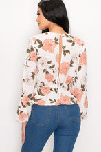 Load image into Gallery viewer, Always In Floral Top (Ivory)