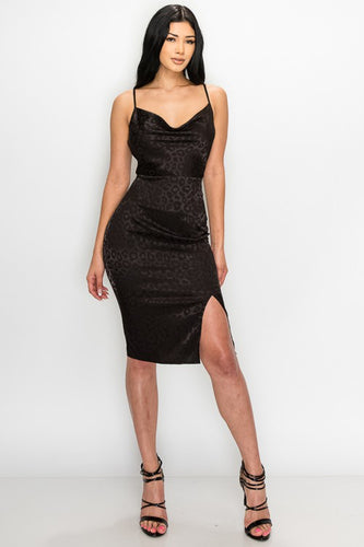 Can't Be Tamed Dress (Black)