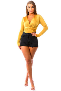Knot Your Business Bodysuit (Mustard)