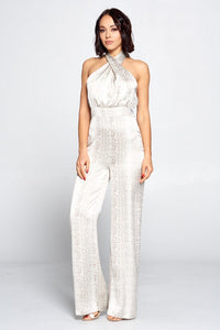 Look At Me Now Jumpsuit (Ivory/Taupe)