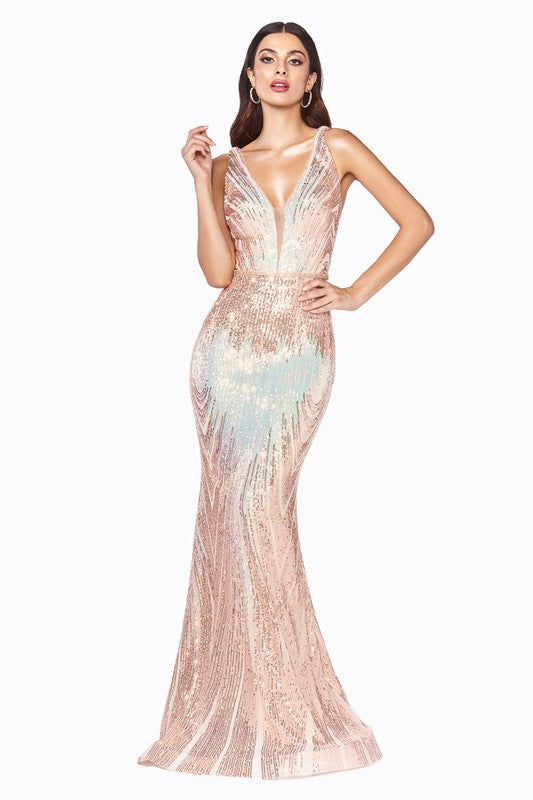Queen Stephanie Dress (Opal/Gold)