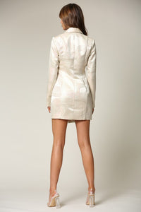 Enchanted Blazer Dress (Champagne)