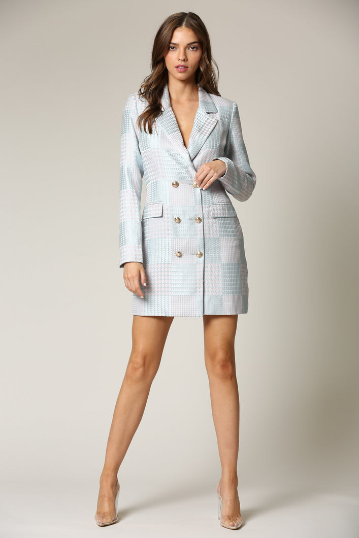 Wonderstruck Blazer Dress (Sage/Blush)
