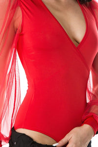 Bring It On Bodysuit (Red)