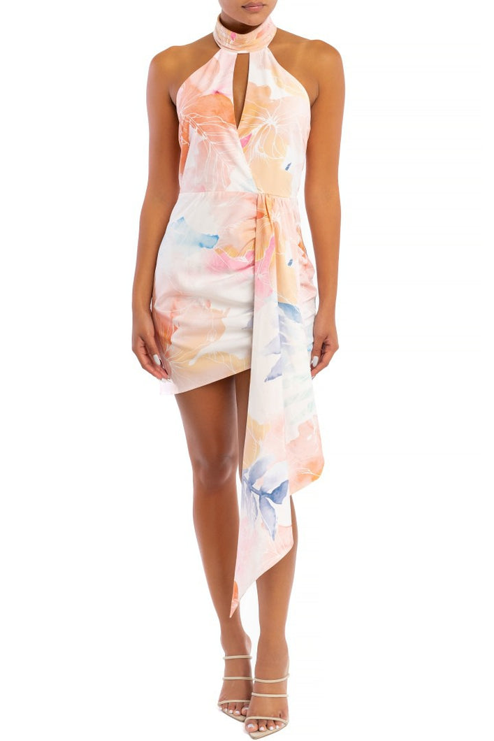 Sweet Escape Dress (White/Multi)