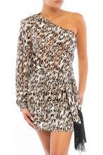 Load image into Gallery viewer, Animal Instinct Dress (Brown)