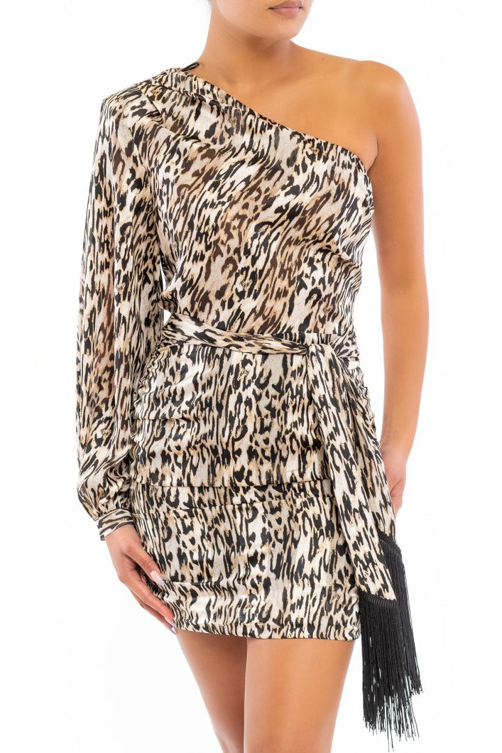 Animal Instinct Dress (Brown)