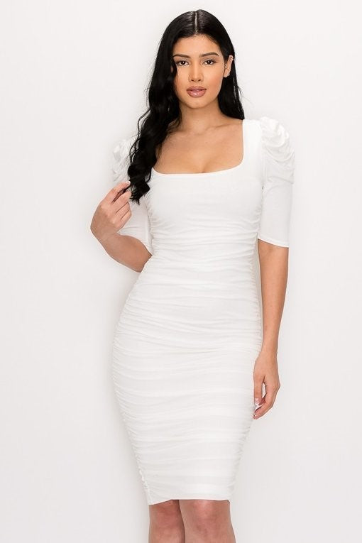 Call the Shots Dress (White)