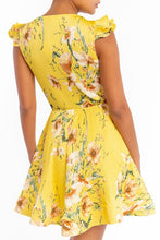 Load image into Gallery viewer, Vintage Flowers Dress (Yellow)