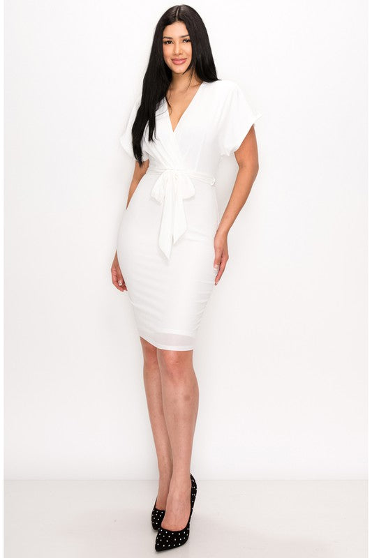 No More Worries Dress (Ivory)