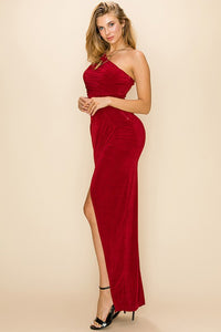 Majestic Goddess Dress (Burgundy)