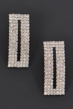 Load image into Gallery viewer, Rectangle Rhinestone Earrings