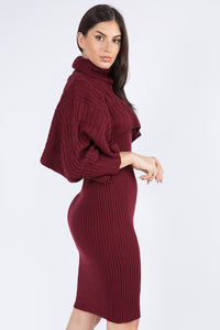 Chill Vibes Dress (Wine)