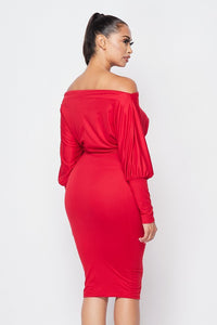 Sweet Melody Dress (Red)
