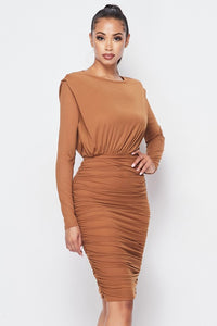 High Expectations Dress (Camel)