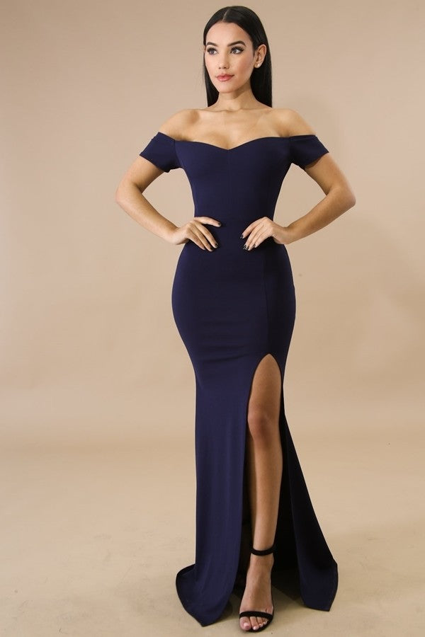 Queen Danielle Dress (Navy)