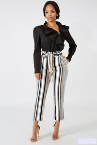 You Da Boss Pants (Black/Taupe)