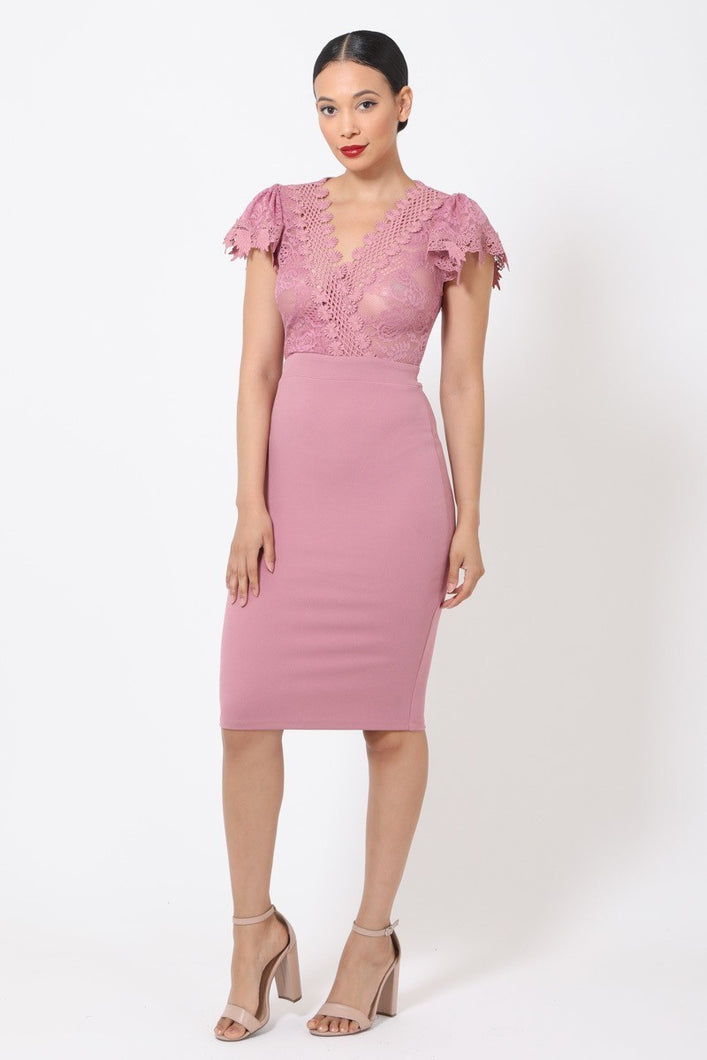 Lost On You Dress (Mauve)