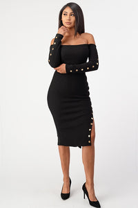 Taking Chances Dress (Black)