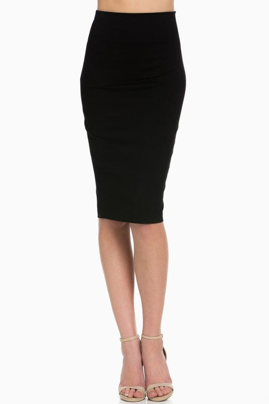 Fashion Forward Pencil Skirt (Black)