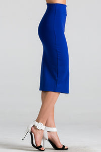 Fashion Forward Pencil Skirt (Royal Blue)