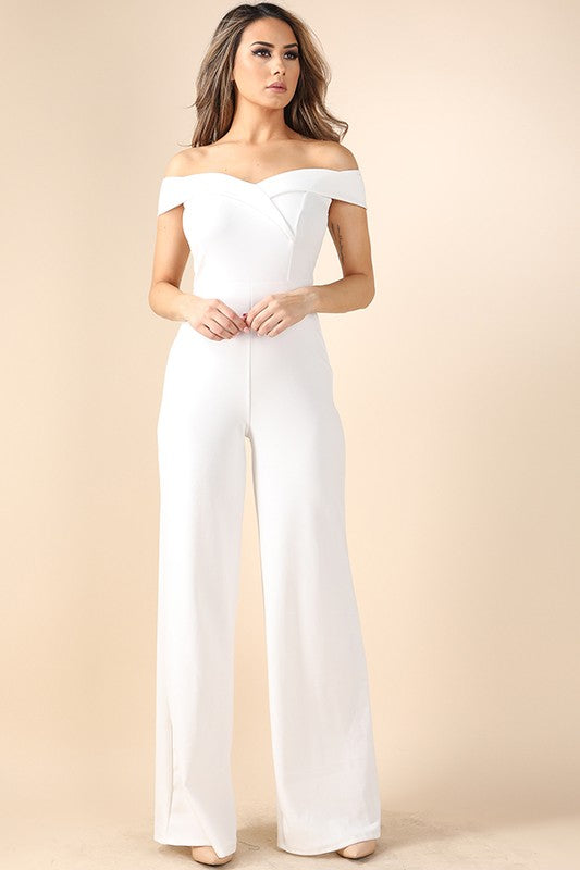 Above It All Jumpsuit (Ivory)