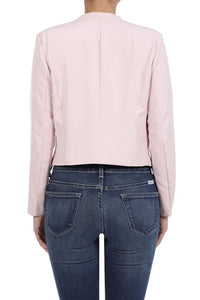 Solid Open Front Blazer (Rose)