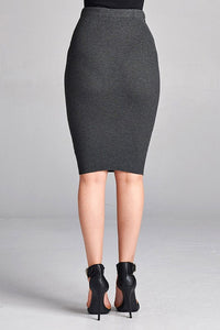 It Takes Time Skirt (Charcoal)