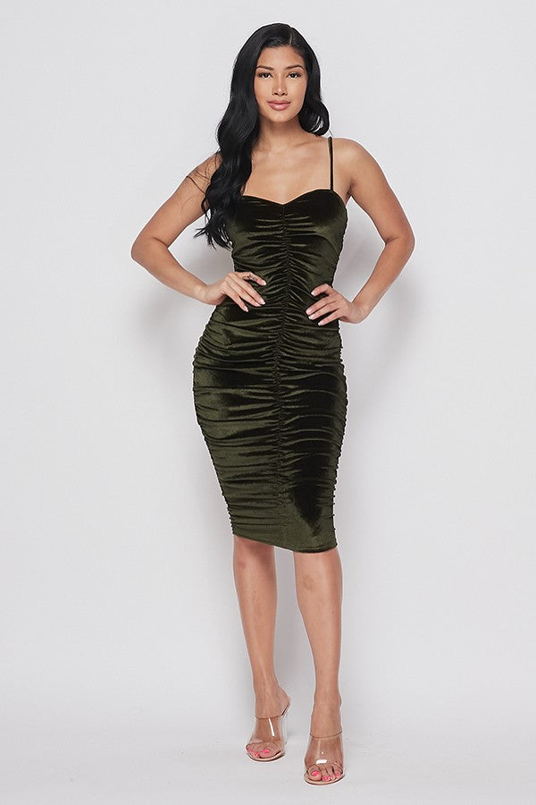 Midnight Escape Dress (Olive)