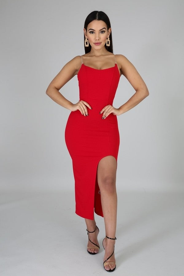 Sexy Vibes Dress (Red)