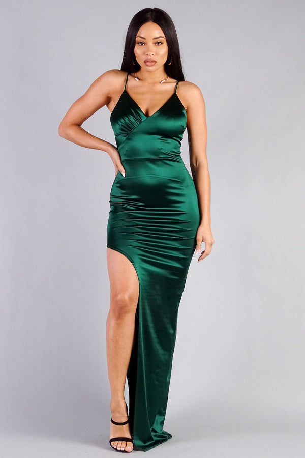 Queen Cassie Dress (Emerald)