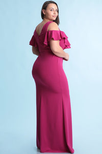 Queen Madelyn Dress (Magenta)