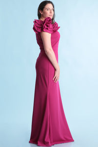 Queen Amanda Dress (Berry) +