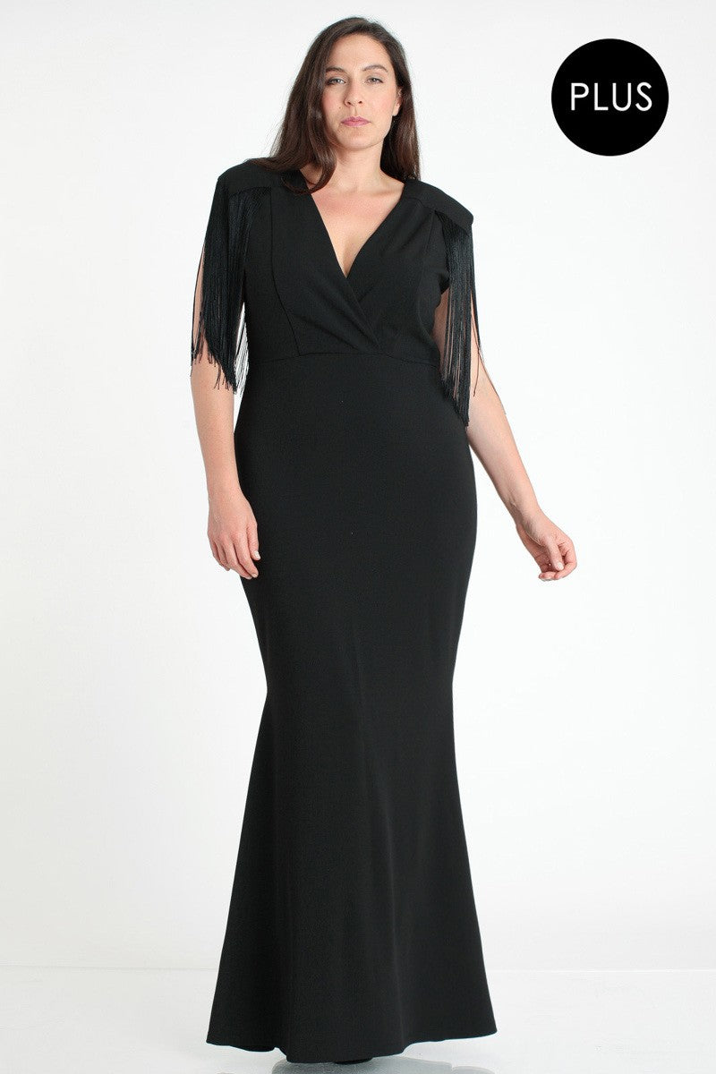 Queen Evelyn Dress (Black) +