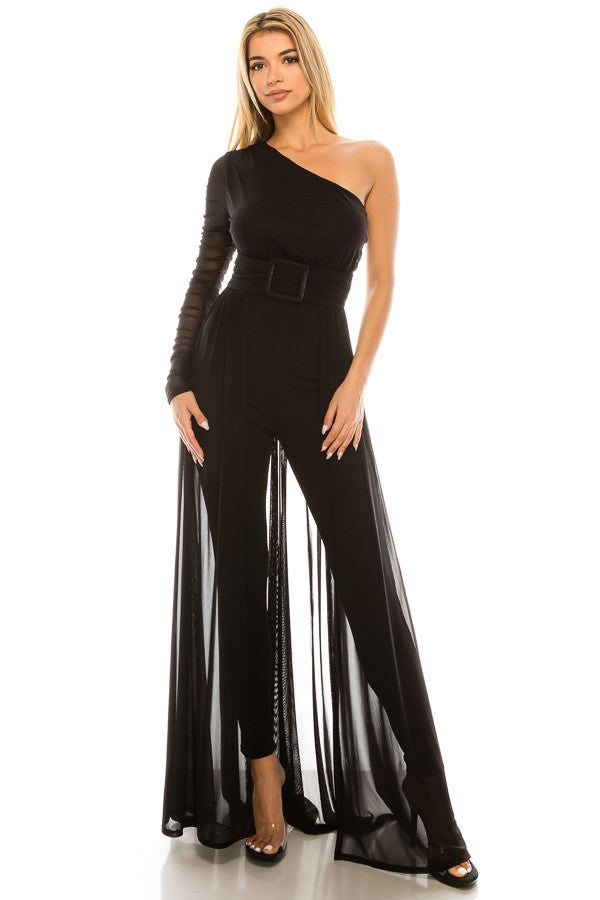 Center of Attention Jumpsuit (Black)
