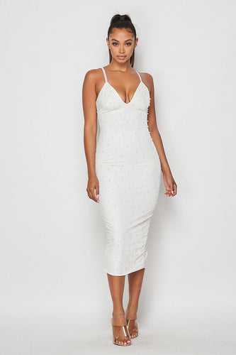 Velvet Dreams Dress (White)