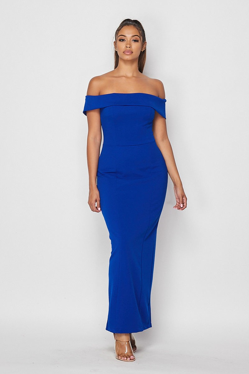 True Elegance Dress (Royal Blue)