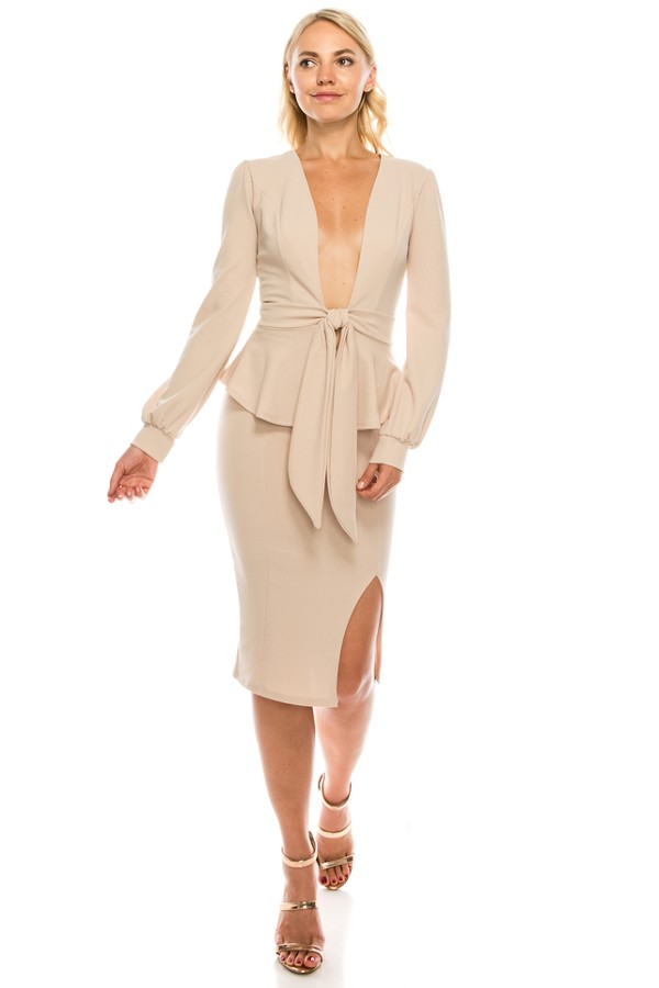 The Carefree Two-Piece Set (Nude)