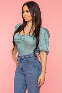 Love Me For Me Top (Dusty Mint)