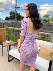 Call the Shots Dress (Lilac)