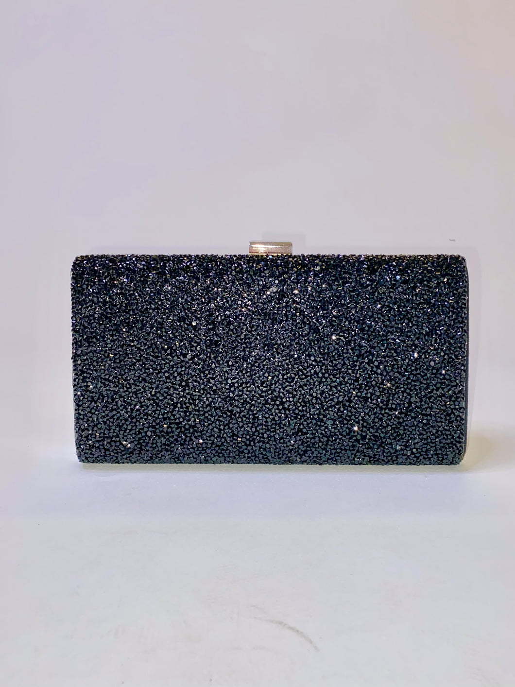 All Jeweled Up Clutch (Black)