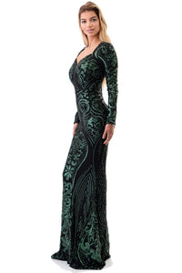 Queen Katherine Dress (Hunter Green)
