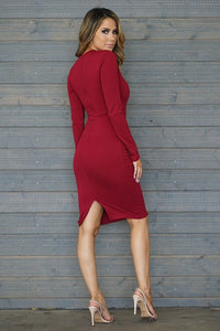 On To The Next Dress (Burgundy)
