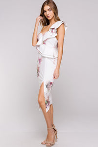 Summer Love Dress (White/Floral)