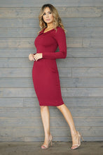 Load image into Gallery viewer, Woman Like Me Dress (Burgundy)