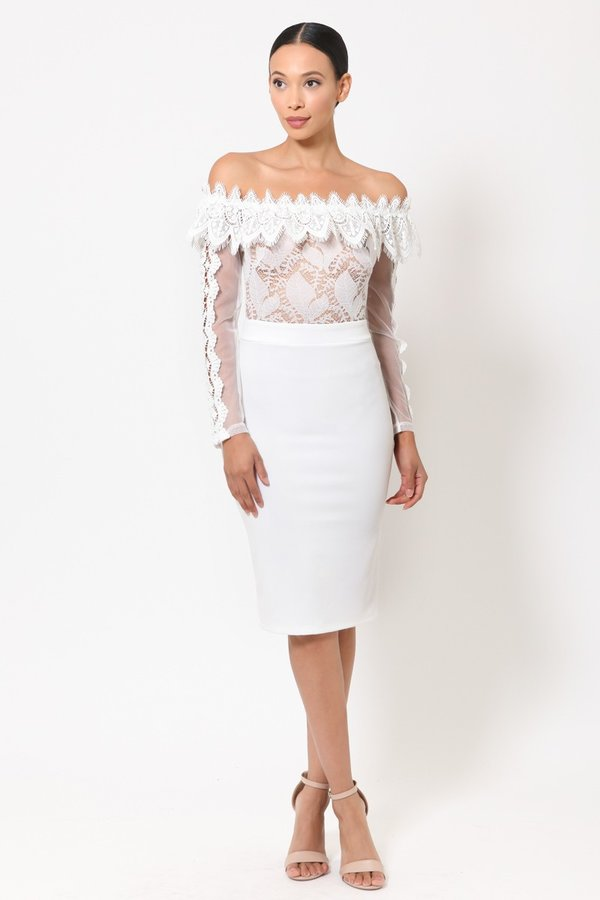 Don't Stress Dress (White)