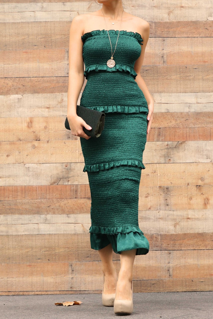 Mi Amor Dress (Hunter Green)